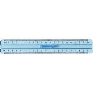 Righello doppio decimetro in plastica PVC da 20 cm con manico