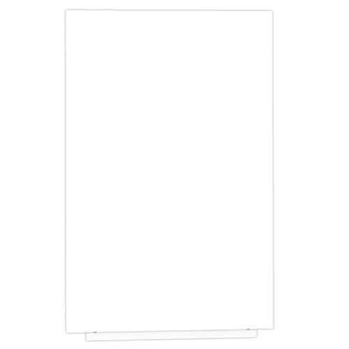 Rocada RCSKIN60-WH Pizarra Magnética Blanca Grande Sin Marco, Pizarra Lacada de Borrado en Seco, 100 x 150 cm