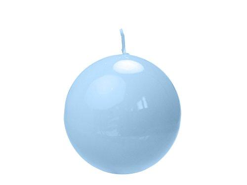6x Stück Weihnachten, Hochzeit, Tischdeko, Kerze Kugel - Lackiert Hellblau 8 Zentimeter / Brenndauer Von 1 Stück ca. 20 stunden
