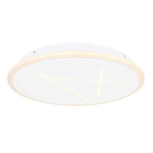 Henna - Lámpara de techo (acrílico, 1 led de 37 W, 37 W, redonda, 3 varillas), color blanco