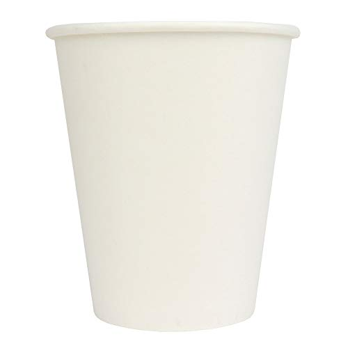 10 oz Paper Coffee Cups - White Hot Drink Disposable Cups - Hot Cup Factory - 1,000 Count