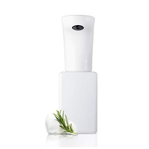 Dispensador de jabón automático de espuma con interruptores ajustables, sensor de movimiento infrarrojo sin contacto dispensador de jabón para cocina y inodoro ducha (color: blanco)