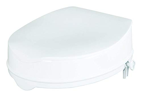 Savanah - Sedile WC rialzato con coperchio 10 cm / 4 pollici, Per persone con mobilità ridotta