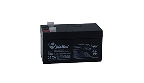 Diamec Batería Plomo AGM 12v 1.2Ah F1