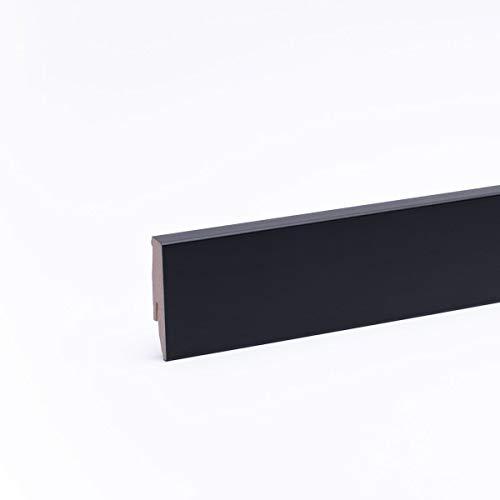 Sockelleiste - Fußleiste 60 x 20 x 2.600mm Schwarz