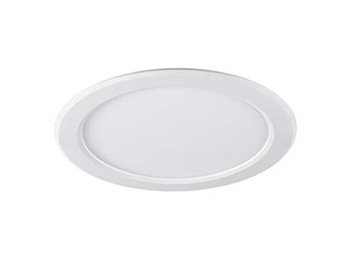 Sylvania SYL0053297 Sylflat spot encastre 2000 lumens rond 4000 k, 17 W, 240 V, Plastique, Blanc