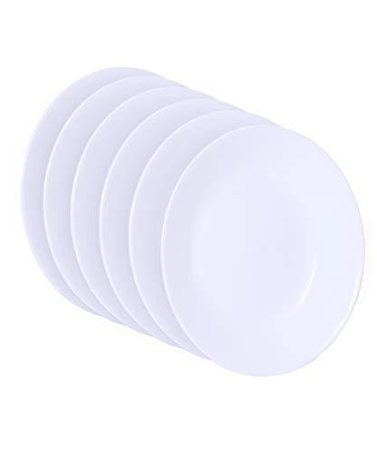 Corelle 1117155, White, Livingware Luncheon Plate, 8-1/2-Inch, Set of 6, 8-1/2