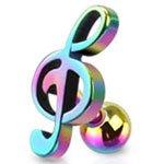 Arc-en-ciel en acier chirurgical en forme de Note de musique Clé de sol cartilage oreille tragus Helix oreille