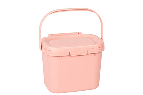 Addis Everyday Kitchen Komposteimer, 4,5 l, Blush Pink, Plastik, 4.5 Litre
