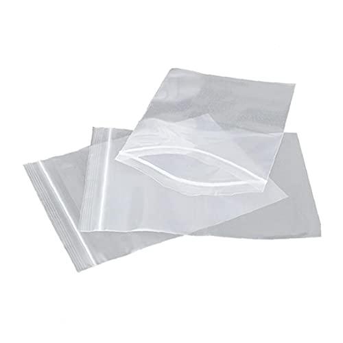 100 unids PE Transparent Zip Block Bolsa de plástico Joyería Ziplock Zip Zip Zip Lock Reclasable Plástico Poly Bolsas Bolsas Claro Pequeña Bolsa de Embalaje (7 * 10cm) Herramientas de Cocina