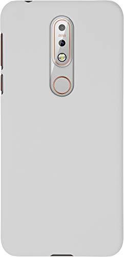 Baluum Hardcase gummierte weiße Hülle für Nokia 7.1 Schutzhülle Case Cover Handyhülle Backcover Hartschale aus robusten Kunststoff
