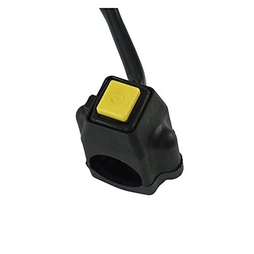 LIUXIAOKE Botón de Interruptor de Inicio de Encendido de Encendido de Potencia de Motocicleta de 7/8'con conexión de Conector de cánula Cuadrada para Yamaha Honda Motorbike ATV DIT BICICLE