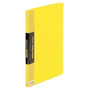 (まとめ) キングジム クリアファイル カラーベース A4タテ 20ポケット 背幅14mm 黄 132C 1冊 【×5セット】