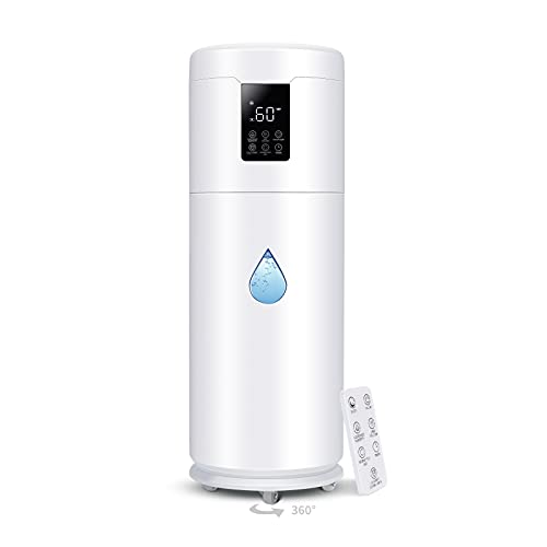 Tower Humidifiers Large Room Bedroom1000 sq ft,Honovos 17L 4.49Gal Ultrasonic Cool Mist Topfill Humidifier with 360°Nozzle 4 Speed Humidistat Essential Oil Tray for Plant Home School Office Greenhouse