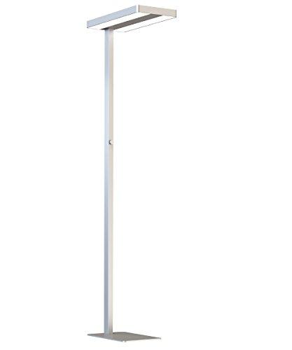 LEDAXO SL-03-60-R, led-bureau-staande lamp, aluminium, 60 watt, zilver gepoedercoat, 61 x 28 x 195 cm [energieklasse A ]