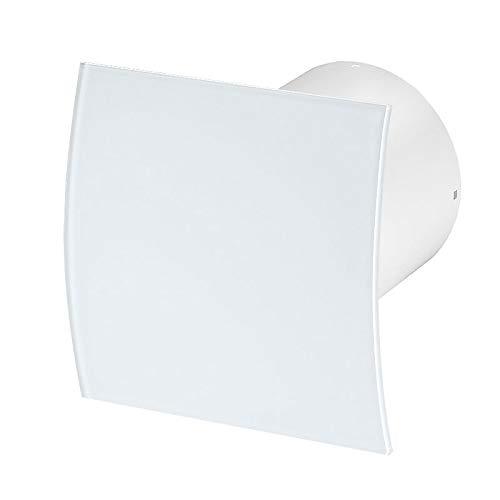 Bad-Lüfter Ventilator Wandlüfter Abluft Ø 100 Kugellager, Nachlauf (Timer),Awenta Silent System+ Glas (PEG)