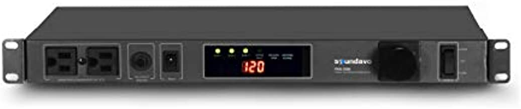 Soundavo PMX-3300 Power Conditioner and Surge Sequencer 10 Protected Outlets and 3 Zones 15A with LED Voltmeter Display