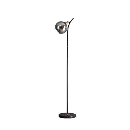 Lámpara de pie para interiores moderna y elegante, lámpara de pie moderna, poste de luz de metal con pantalla de vidrio colgante, lámparas de poste alto para sala de estar, dormitorio, oficina, 3 colo