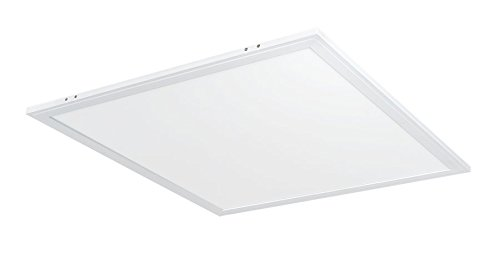 RAB Lighting EZPAN2X2-40N/D10 40W Recessed Drop Ceiling Square | 4000K White Edge-LIT 5260 Lumens | Dimmable & Easy Installation 2x2' LED Flat Panel Light