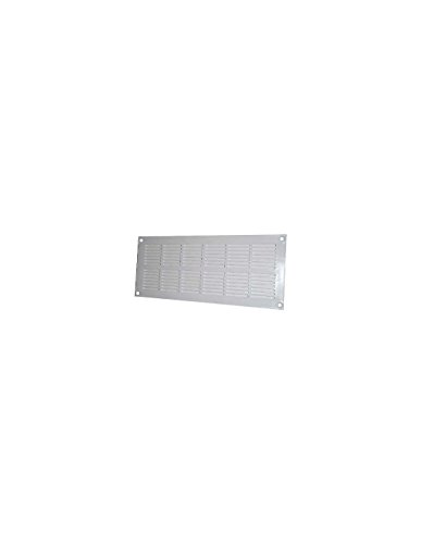 Grille plate à visser - Plastique - Blanc - 337 x 131 mm - DMO