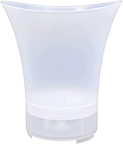 YQG Cubo Enfriador de Vino Cubo de Hielo útil con Pinzas para Hielo Cubo de Hielo de 5 litros con luz LED y amp;Altavoz, recipientes de Gran Capacidad para champán/Bebidas para Fiestas, hogar