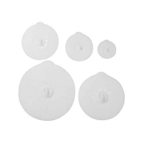 IENNSA 5pcs Silicone Stretch Lids Mantenga el Conjunto de la Taza de la Taza del tazón de la Copa de alimento Fresco (Color : 4)