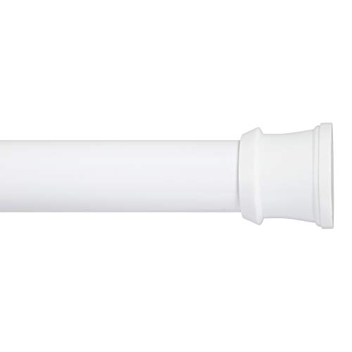 Kenney Fashion Tension Shower Curtain Rod, 42 to 72-Inch, White