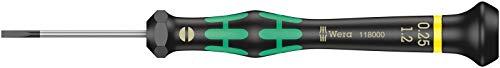 Wera 05117997001 2035 Destornillador Plano para usos electrónicos, 0.35 x 2.5 x 40 mm