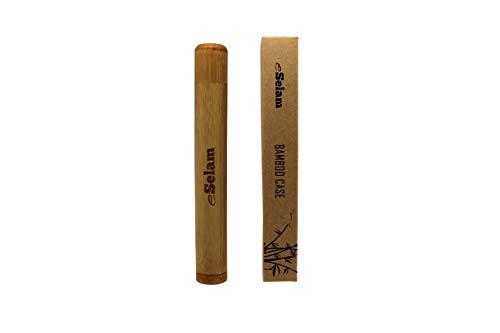 eSelam Bamboo Case - Zahnbürstenhülle aus Bambus - Zahnbürstenbehälter für Zahnbürsten und Miswak - Umweltfreundliches Reiseetui