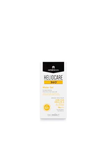 Heliocare 360° Water Gel SPF 50+ - Crema Solar Facial, Fotoprotector Avanzado, Ultraligera, Hidratante, Pieles Normales y Sensibles, Resistente al Agua, 50ml