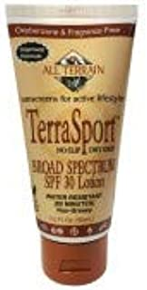 All Terrain TerraSport Sunscreen 1 Ounce (3 Pack) SPF 30 Natural Sunscreen Lotion Oxybenzone Paraben & Chemical Free Water and Sweat Resistant for Active Outdoor Lifestyles Protects Skin from UV Rays