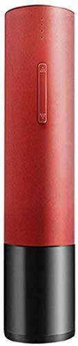 Sacacorchos automático de vino eléctrico Sacacorchos de vino inalámbrico recargable con cuchillo de aluminio (acero inoxidable) Cable USB Carga-Rojo