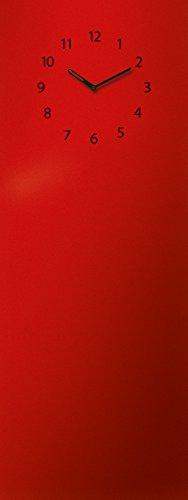 Memoboard mit Uhr, beschriftbar, 30x80cm von Eurographics, rot