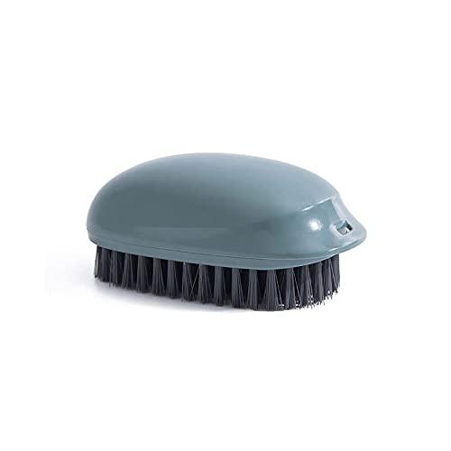 Lpiotyuxs Cepillo El Cepillo de Limpieza de plástico para el baño, Adecuado para Pisos, Zapatos, Ropa, se Puede Colgar, se Siente cómodo (Color : Blue)