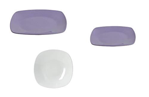 Tognana Set 3 pièces. Ligne TIMESQUARE en Porcelaine Fine Lilas