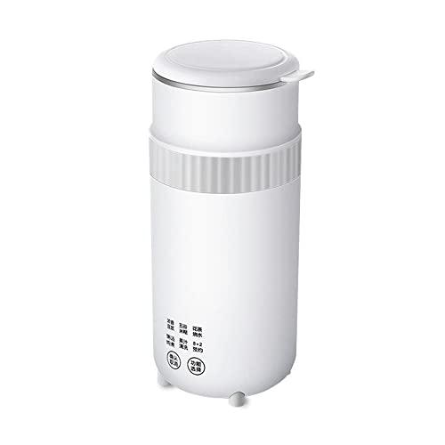 Automatischer Mini Sojamilchbereiter, 300ml Sojabohnenmilch Maschine 15 Min Schnelles Aufheizen High-Speed Brechen Filter-Frei Einweichen-Frei 8+2 Stunden-Termin, für Saft/Reispaste/Suppe(Color:Weiß)