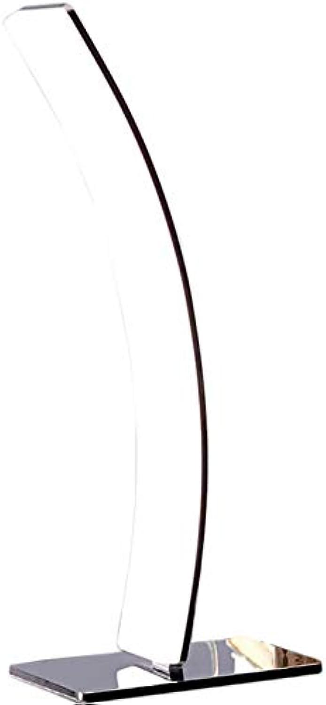 DELIFE LED-Tischleuchte Stavros Silber 15 Watt warmweiss Aluminium