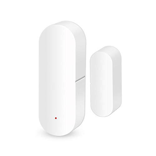 KCCCC Alarma de la Puerta WiFi Smart Door and Window Detector de la Ventana Sensor magnético Control de Voz para la Seguridad de los niños (Color : White, Size : 1 Pack)