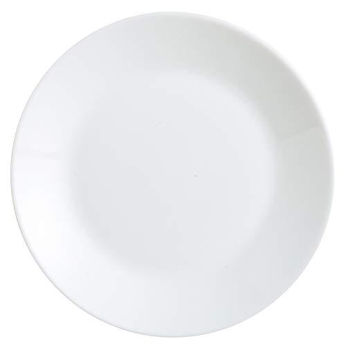 Arcopal Zelie Set 12 platos postre, Vajilla vidrio opal extra resistente, 18cm, Blanco