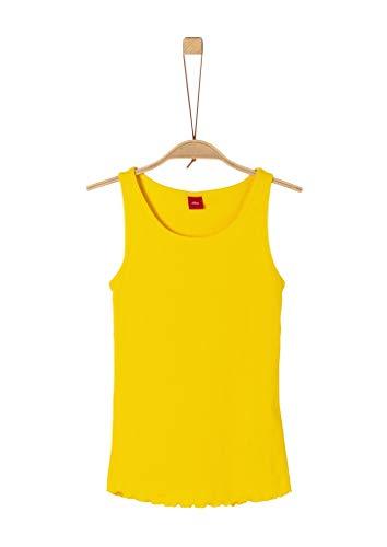 s.Oliver Junior Mädchen 401.10.004.12.102.2037894 Trägershirt/Cami Shirt, Gelb (1365 Yellow), L/REG