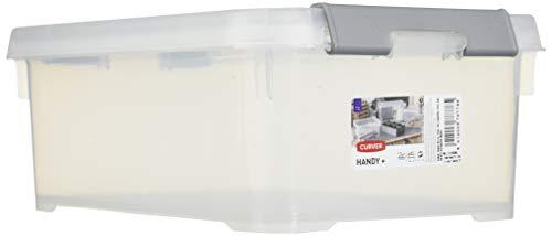 Allibert Aufbewahrungsbox Praktische, Plus mit Deckel 4L in transparent/Silber