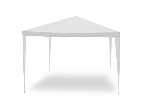 Gazebo facile bianco 3x3 m Struttura in acciaio copertura in pe. 110 gr/m².
