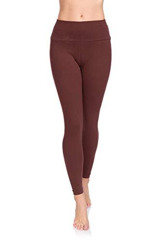 Soft Sail Damen Leggings, hohe Taille, Bauchkontrolle, weiche Baumwolle Gr. 42, braun