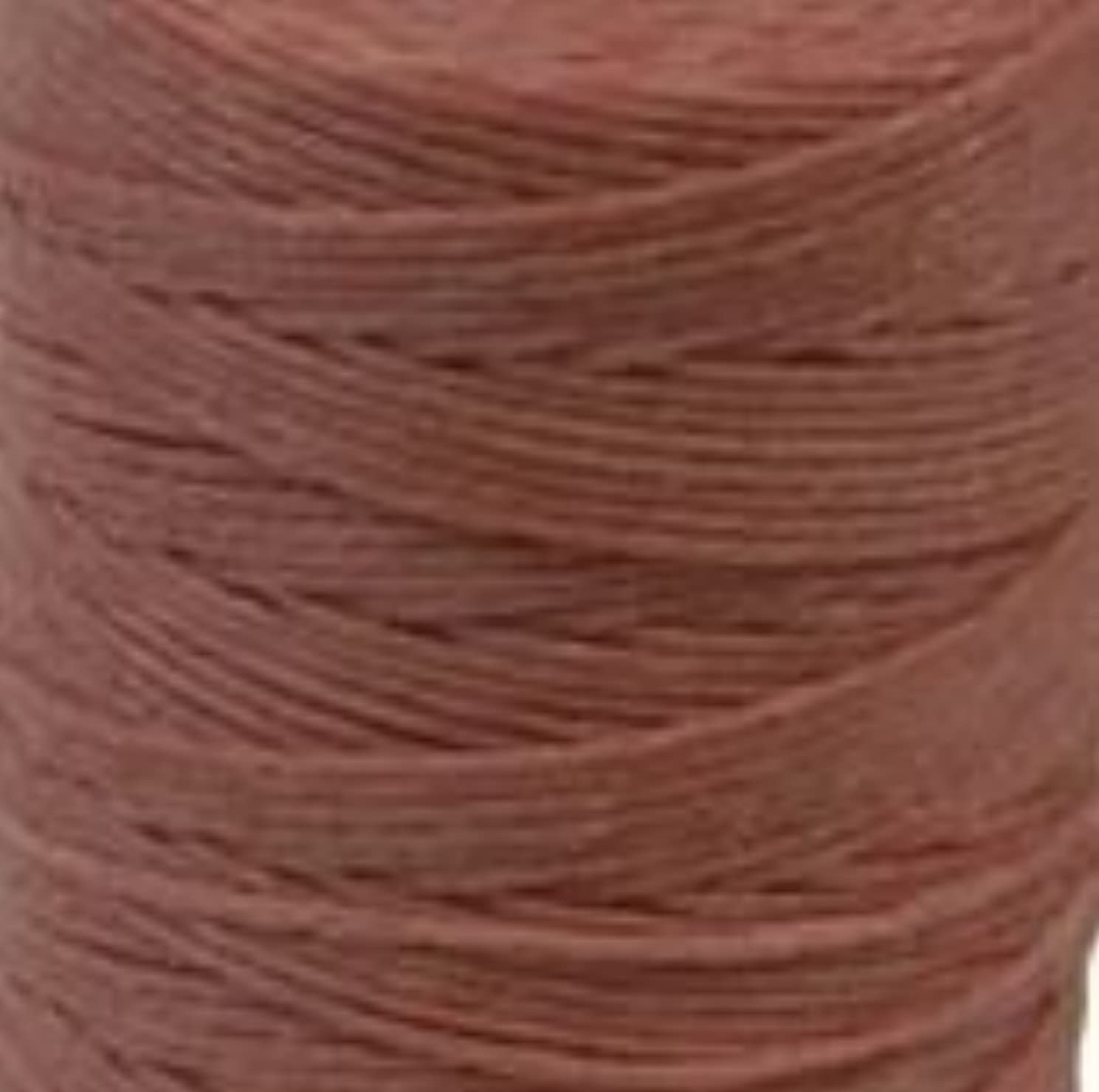 Waxed Irish Linen Crawford Cord 4 Ply 10 Yards SALMON
