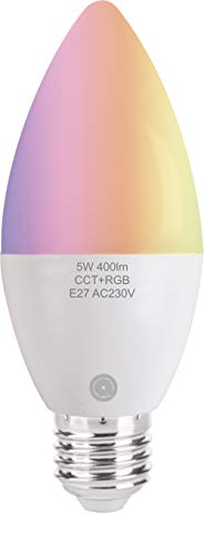 Lampadina Wifi led Dadvu DV-E27WS, RGB regolazione colore e luminosità, 5w, compatibile Alexa e Google Home, App DadVu (Smart Life - Tuya)