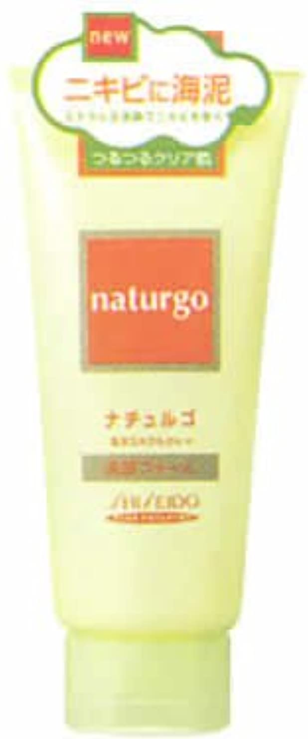 付き添い人アレルギー性怖がらせるナチュルゴ 海洋ミネラルクレイ 洗顔フォーム ニキビ用 120g