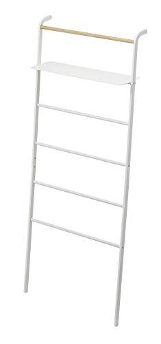YAMAZAKI home Tower Leaning Ladder With Shelf White