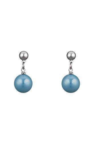 Córdoba Jewels | Pendientes en acero con perla de Swarovski diseño Perla Turquesa Swarovski