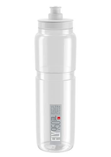 Elite Botella de agua unisex con mosca, transparente, 950 ml