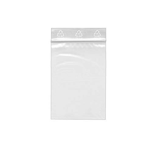 Veloflex 6701000 Druckbandbeutel, 70 x 100 mm, PE-Folie 0, 05 mm, Druckverschlussbeutel Transparent, 100 Stück